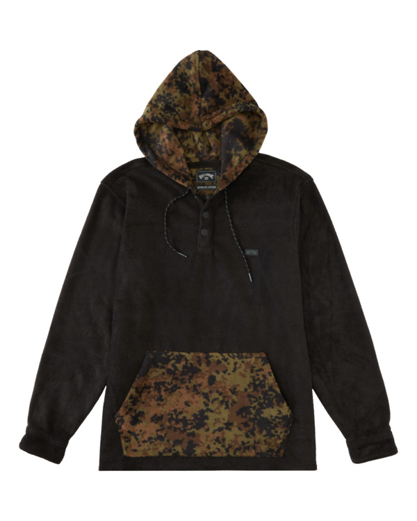 0 Furnace Anorak - Water Repellent Hooded Furnace Fleece for Men Black Z1FL46BIF1 Billabong