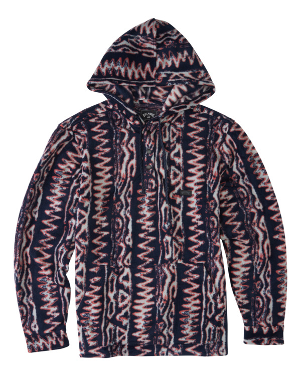 0 Furnace Anorak - Water Repellent Hooded Furnace Fleece for Men Blue Z1FL46BIF1 Billabong