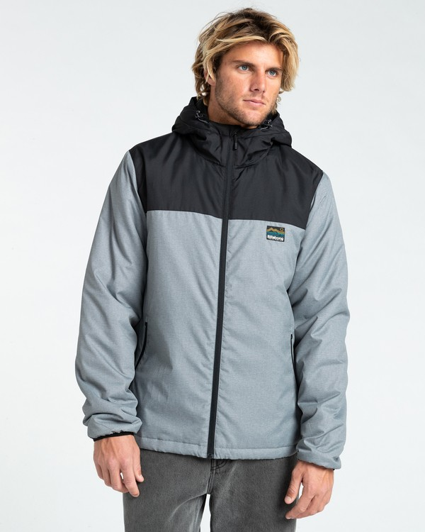0 Bus Stop - Puffer Jacket for Men Grey Z1JK38BIF1 Billabong
