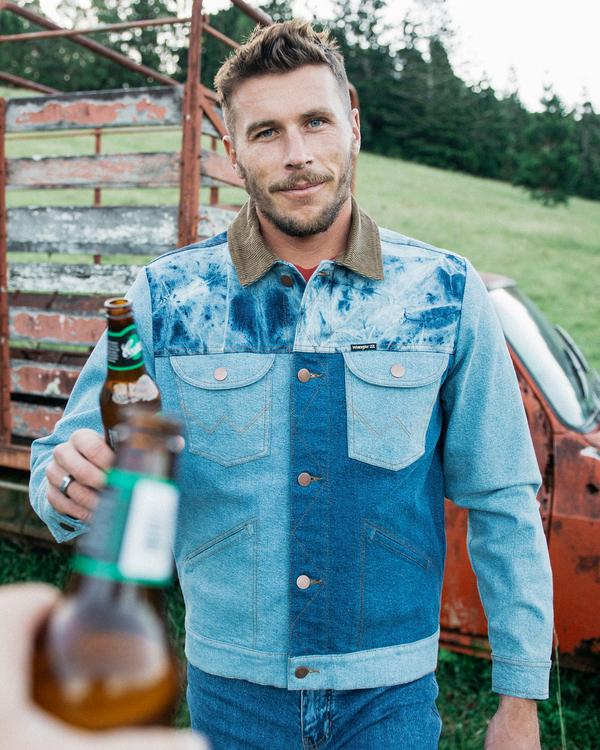 0 Wrangler Team Ranch Mixup - Denim Jacket for Men Blue Z1JK52BIF1 Billabong