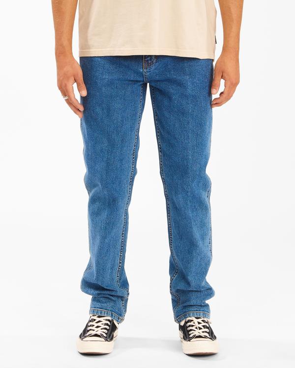 0 Wrangler 73 Hemp - Pantalones Vaqueros Rectos para Hombre Azul Z1PN11BIF1 Billabong