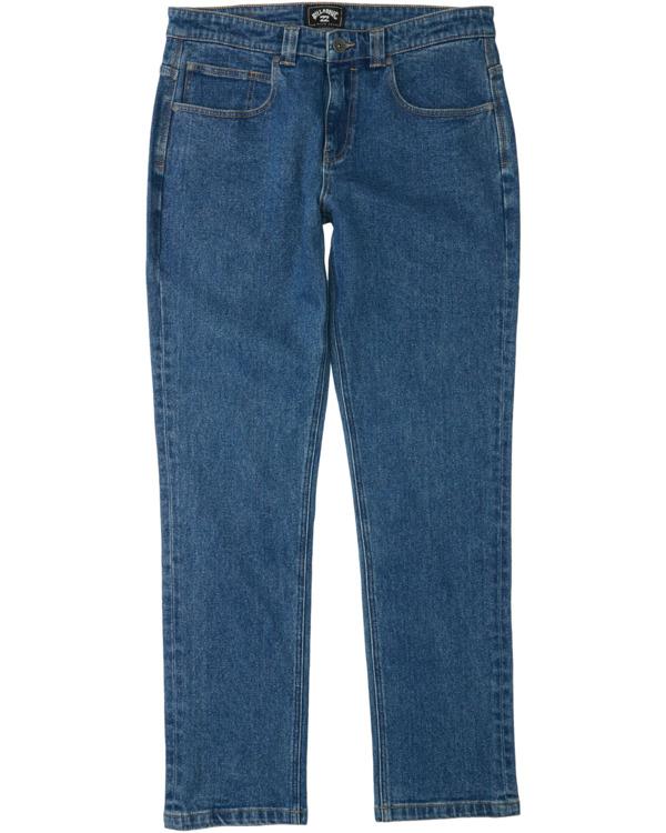 0 73 - Pantalones Vaqueros Rectos para Hombre Azul Z1PN12BIF1 Billabong