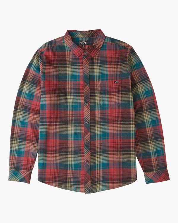 0 Coastline  - Camiseta de franela para Hombre Rojo Z1SH36BIF1 Billabong