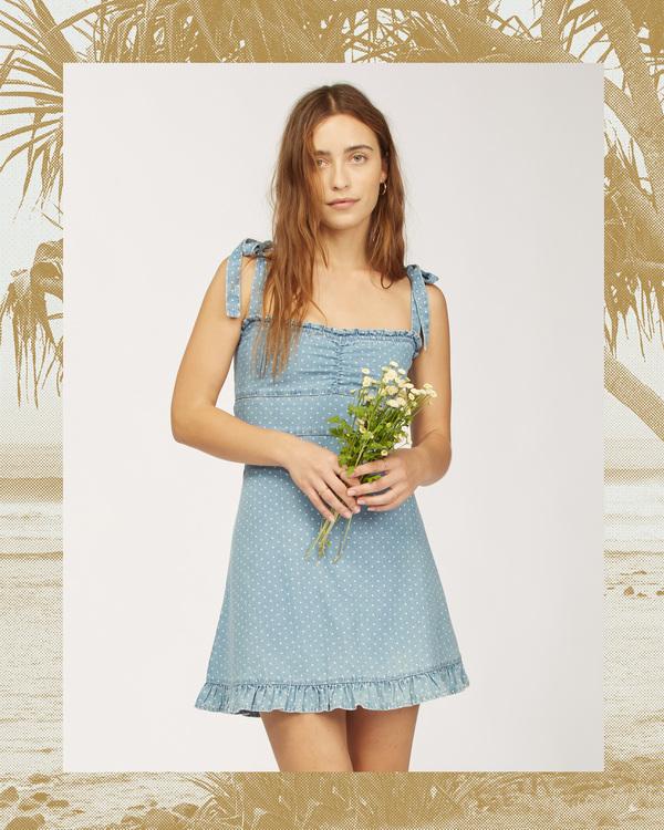 0 Wrangler Lovely Day - Robe pour Femme Bleu Z3DR31BIF1 Billabong