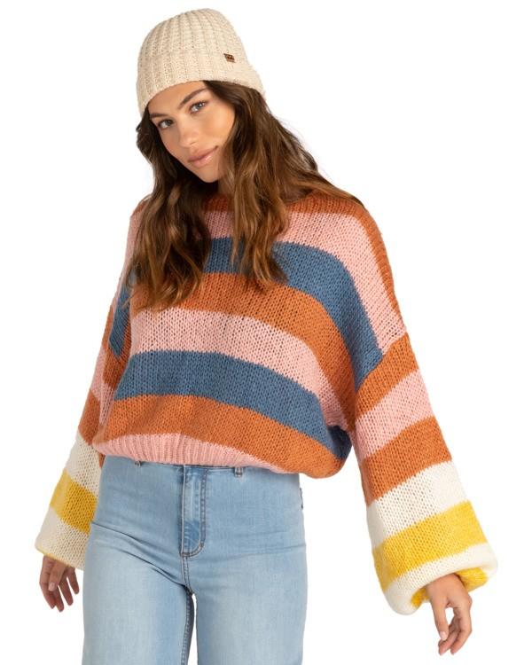 0 Soft Wind - Kürzer geschnittenes Sweatshirt für Frauen Mehrfarbig Z3JP02BIF1 Billabong