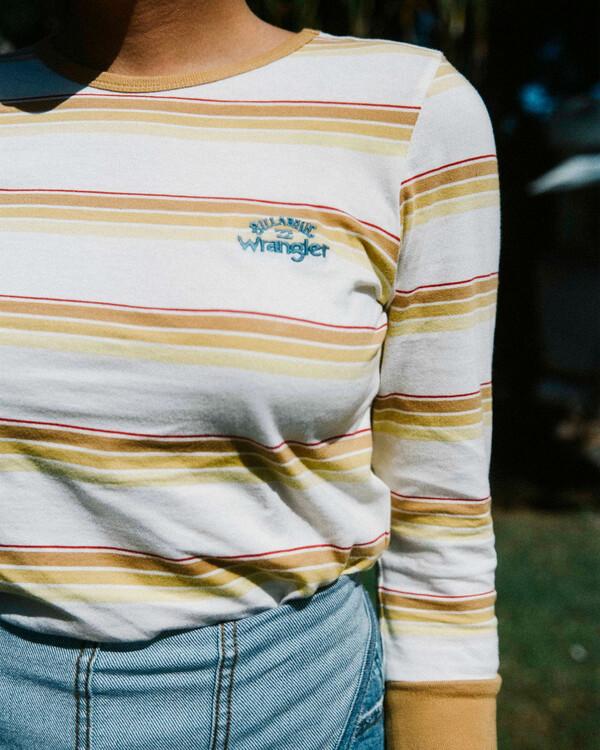 0 Wrangler Going Retro - T-shirt manches longues pour Femme Jaune Z3KT08BIF1 Billabong