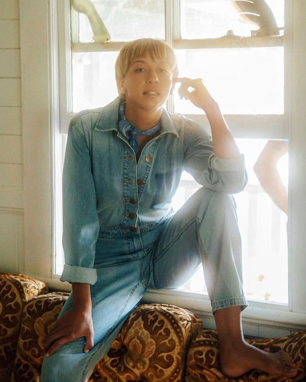 0 Wrangler On The Range - Combinaison en jean pour Femme Beige Z3PT01BIF1 Billabong