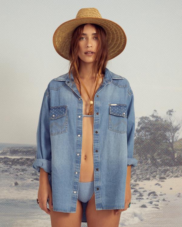 0 Wrangler Headed West - Long Sleeve Shirt for Women Blue Z3TP18BIF1 Billabong