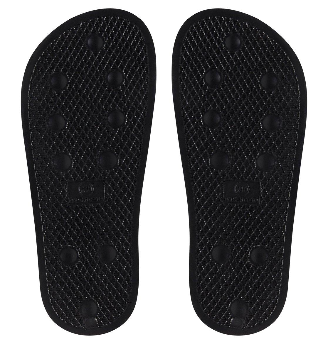 4037237b49a04 3 Boy s 8-16 DC Slide Sliders Black ADBL100025 DC Shoes