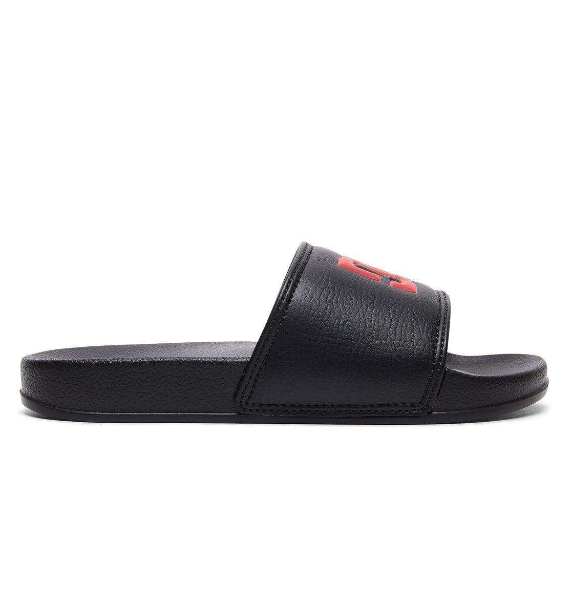 c0074bfd8edc9 1 Boy s 8-16 DC Slide Sliders Black ADBL100025 DC Shoes
