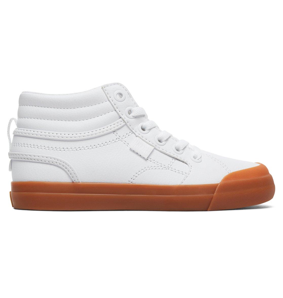 15dff8600566 0 Kid's Evan Hi SE Zip High Top Shoes White ADBS300307 DC Shoes