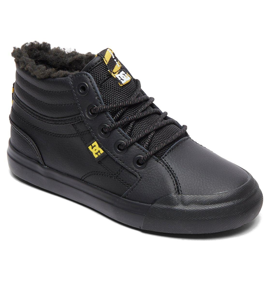 7b5e44b6d27ff 1 Evan Hi WNT - Chaussures d hiver montantes pour Garçon Noir ADBS300314 DC  Shoes