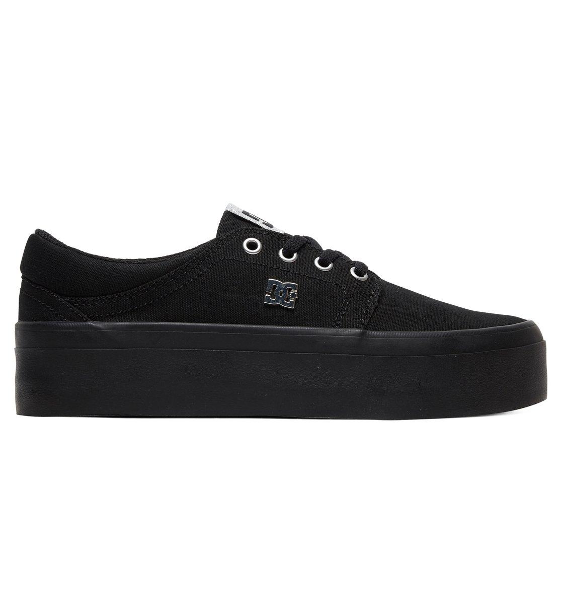 bb5653bedb 0 Women's Trase Platform TX Flatform Shoes Black ADJS300184 DC Shoes