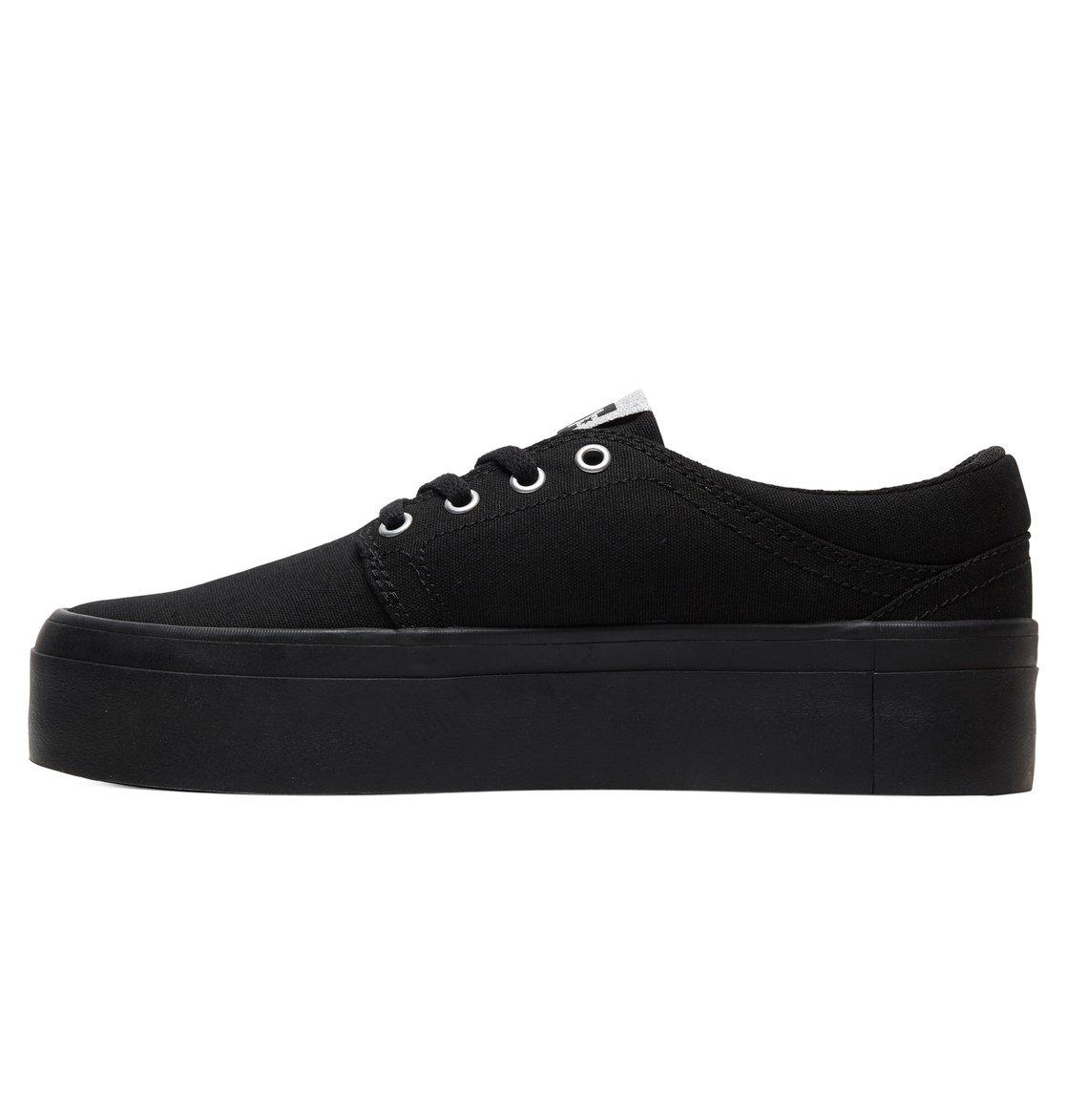 7a84337ec8 2 Women's Trase Platform TX Flatform Shoes Black ADJS300184 DC Shoes