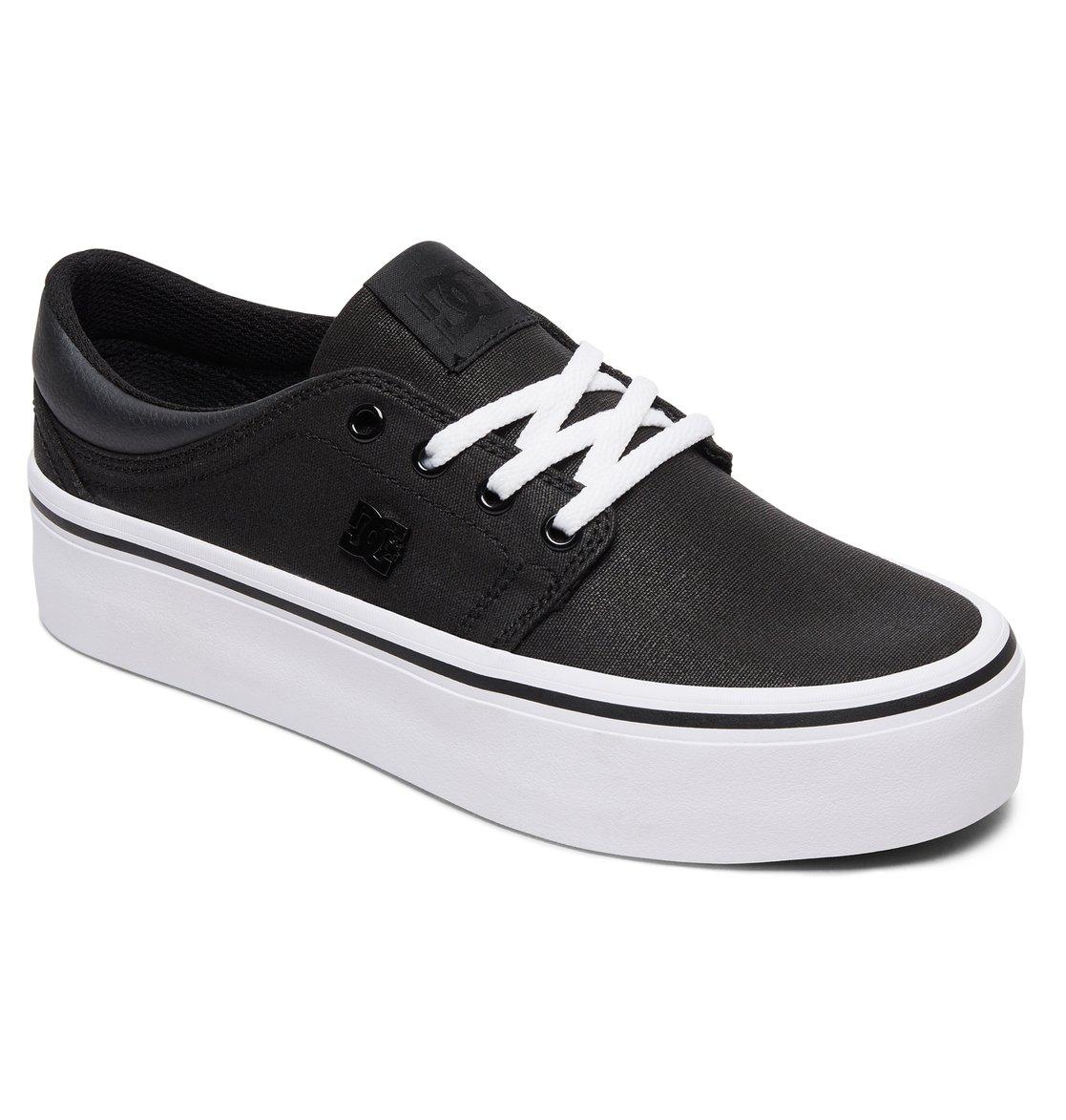 acbf4f035b 1 Women's Trase Platform TX SE - Shoes Black ADJS300196 DC Shoes
