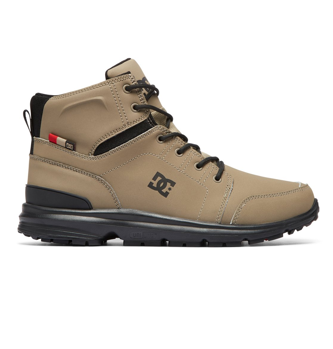 fc82bc8f79 0 Torstein Lace-Up Leather Boots Brown ADMB700008 DC Shoes