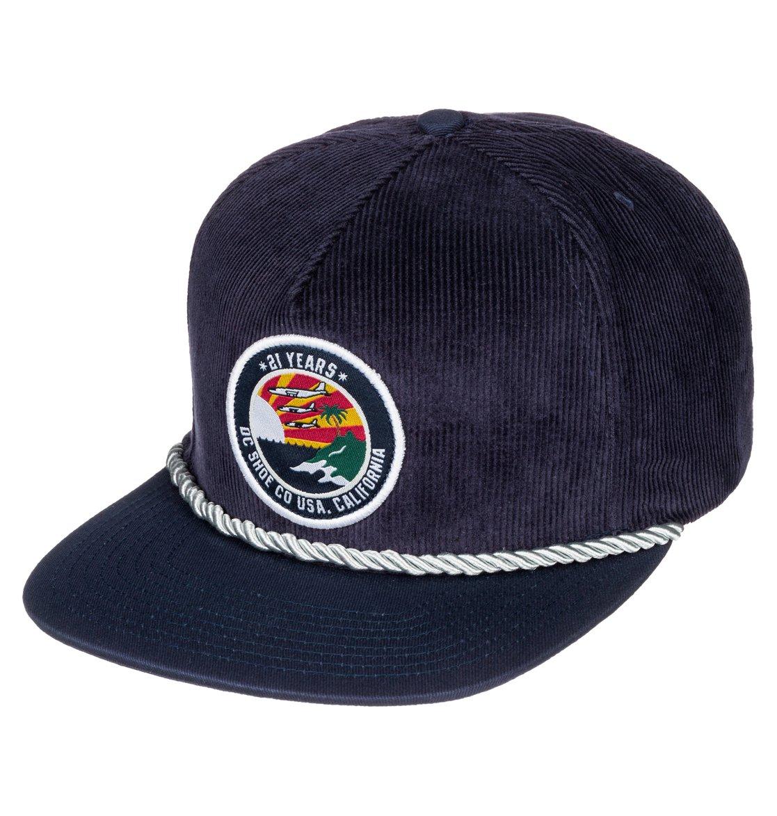 e4f5eb3348a9f 0 Men's Boomer Snapback Hat Blue ADYHA03143 DC Shoes