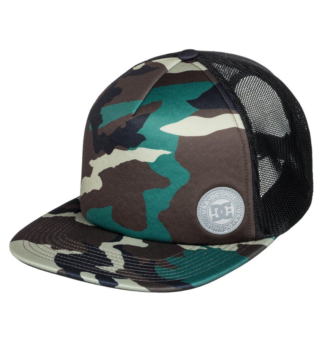 afcbf00487f31 0 Balderson Trucker Hat Green ADYHA03628 DC Shoes