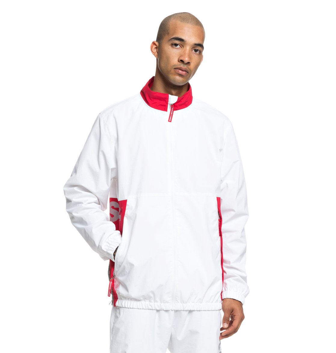 d3a86b347be343 0 Skate - Water-Resistant Zip-Up Tracksuit Top for Men White ADYJK03051 DC
