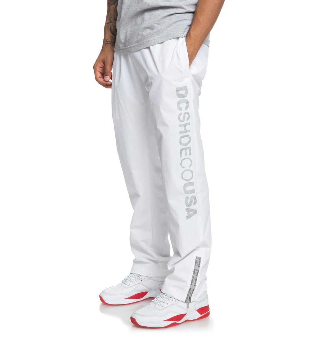 66e8d8e8 2 Skate - Water-Resistant Tracksuit Bottoms for Men White ADYNP03040 DC  Shoes
