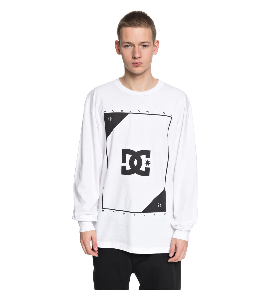 b9d39209e303 0 Theory Long Sleeve Tee White ADYZT04246 DC Shoes