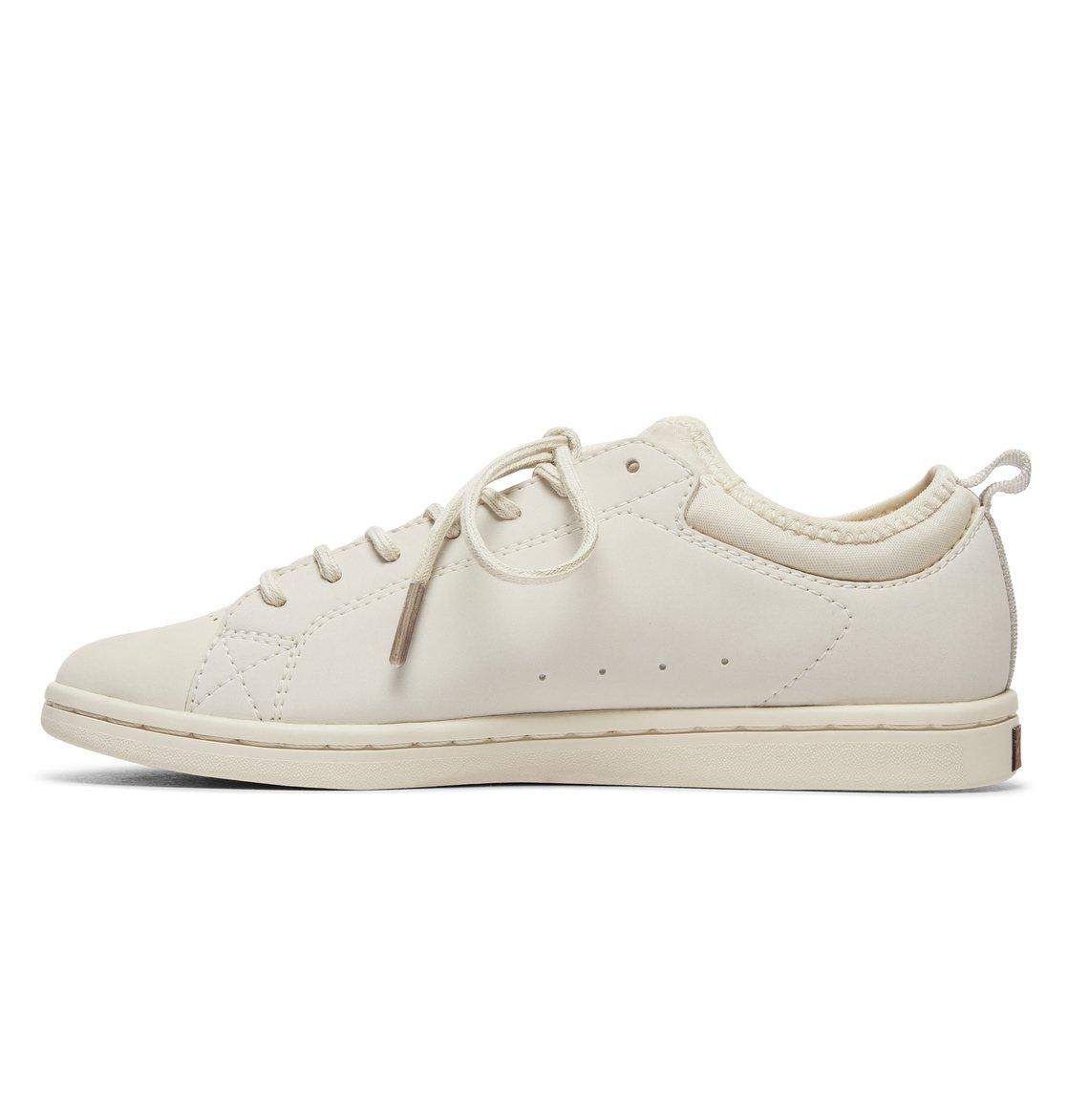 48f1a31eb 2 Tenis Cano Baixo Feminino DC Shoes Magnolia SE Branco BRADJS100104 DC  Shoes