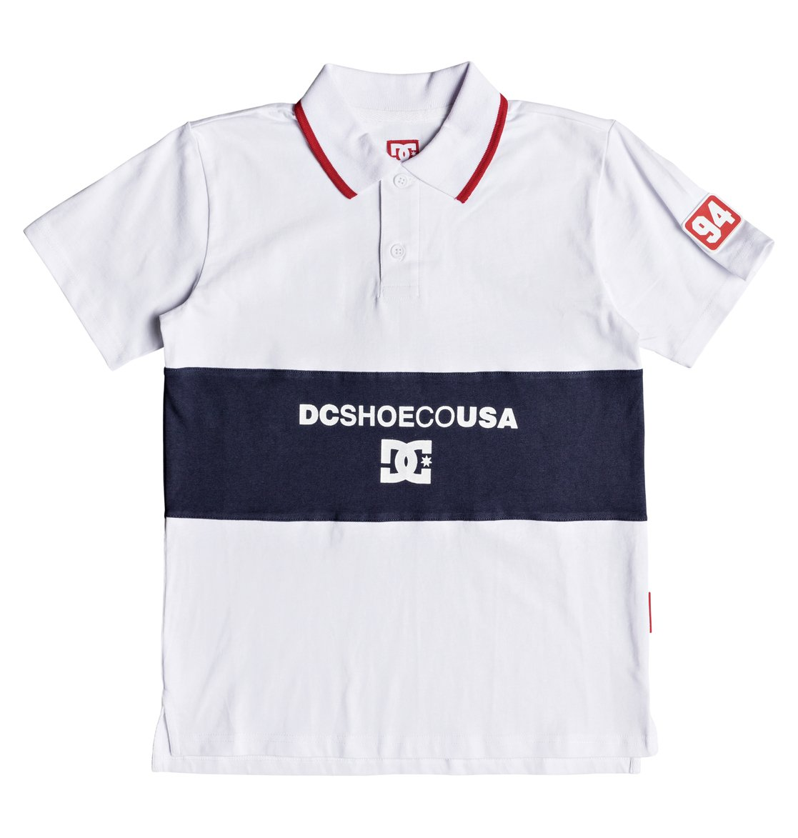 9dee85dd 0 Boy's 8-16 Emerson Short Sleeve Polo Shirt White EDBKT03101 DC Shoes