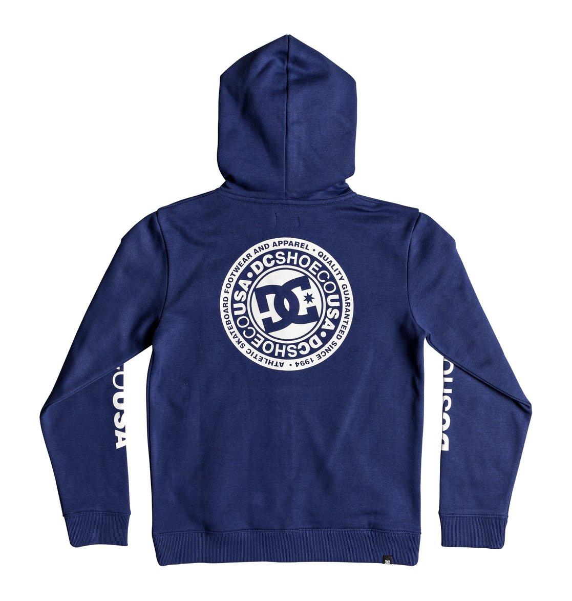 1a03b263ea9be 2 Circle Star - Sweat à capuche zippé pour Garçon 8-16 ans Bleu EDBSF03091