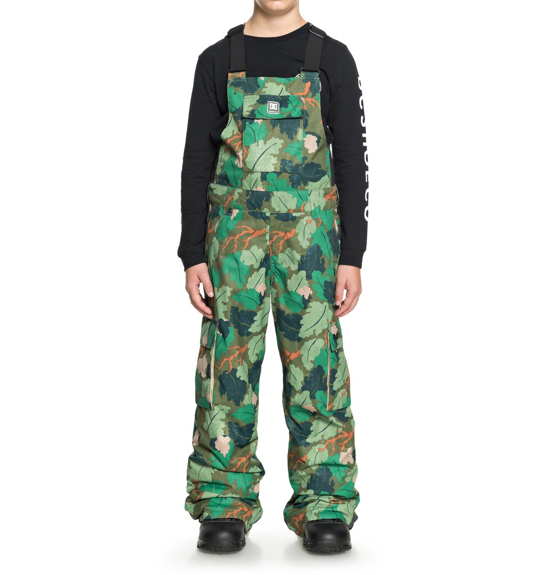 9b3265c93 0 Banshee - Snow Bib Pants for Boys 8-16 Green EDBTP03007 DC Shoes