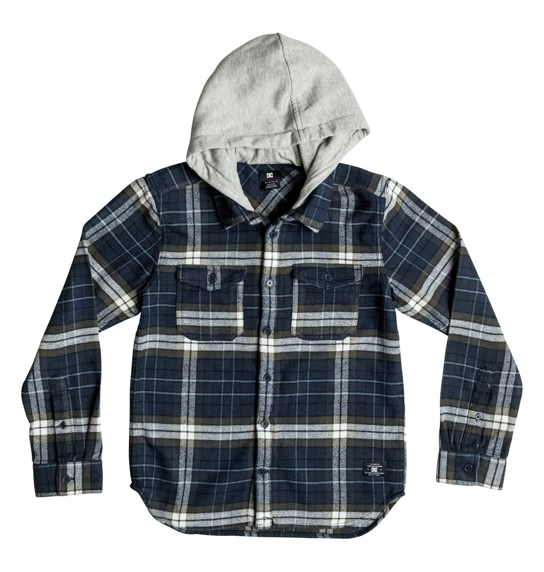 27c9700ab182 0 Boy's 8-16 Runnels Flannel Hooded Long Sleeve Shirt EDBWT03018 DC Shoes