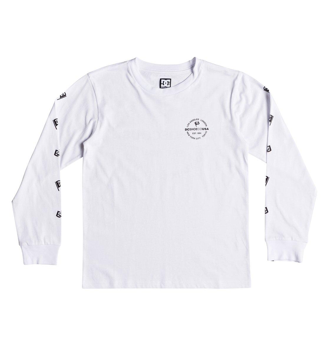 2fc5503712a6a Worldwide Flag - T-shirt à manches longues pour Garçon 8-16 ans ...