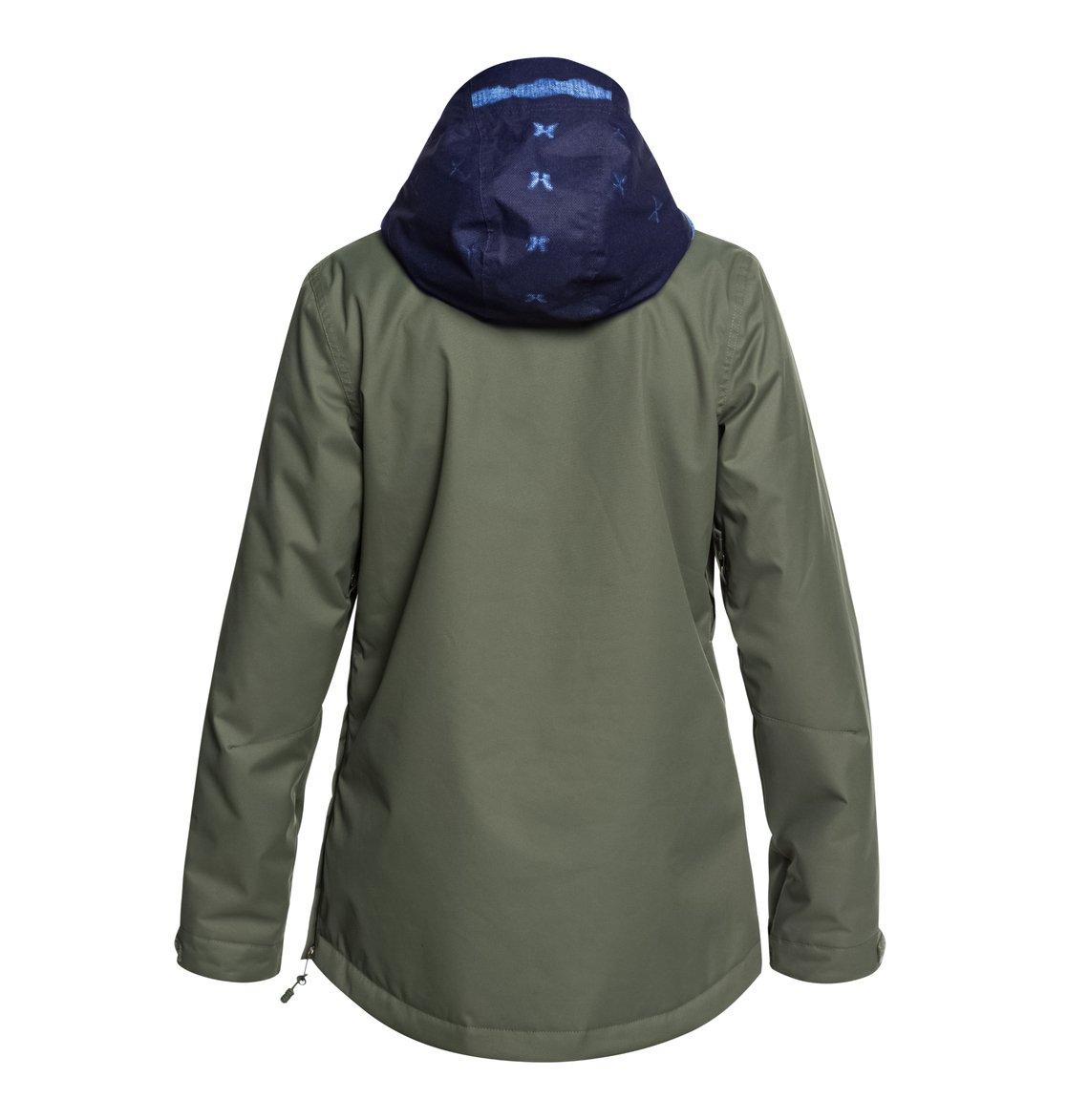 c6a5d75fb7a 1 Women s Skyline Snow Jacket Green EDJTJ03038 DC Shoes