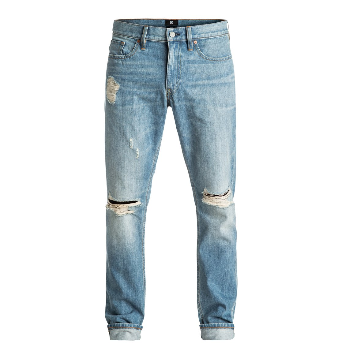 cefb35d5e632a9 0 Washed Indigo Desty - Straight Taper Fit Jeans EDYDP03306 DC Shoes