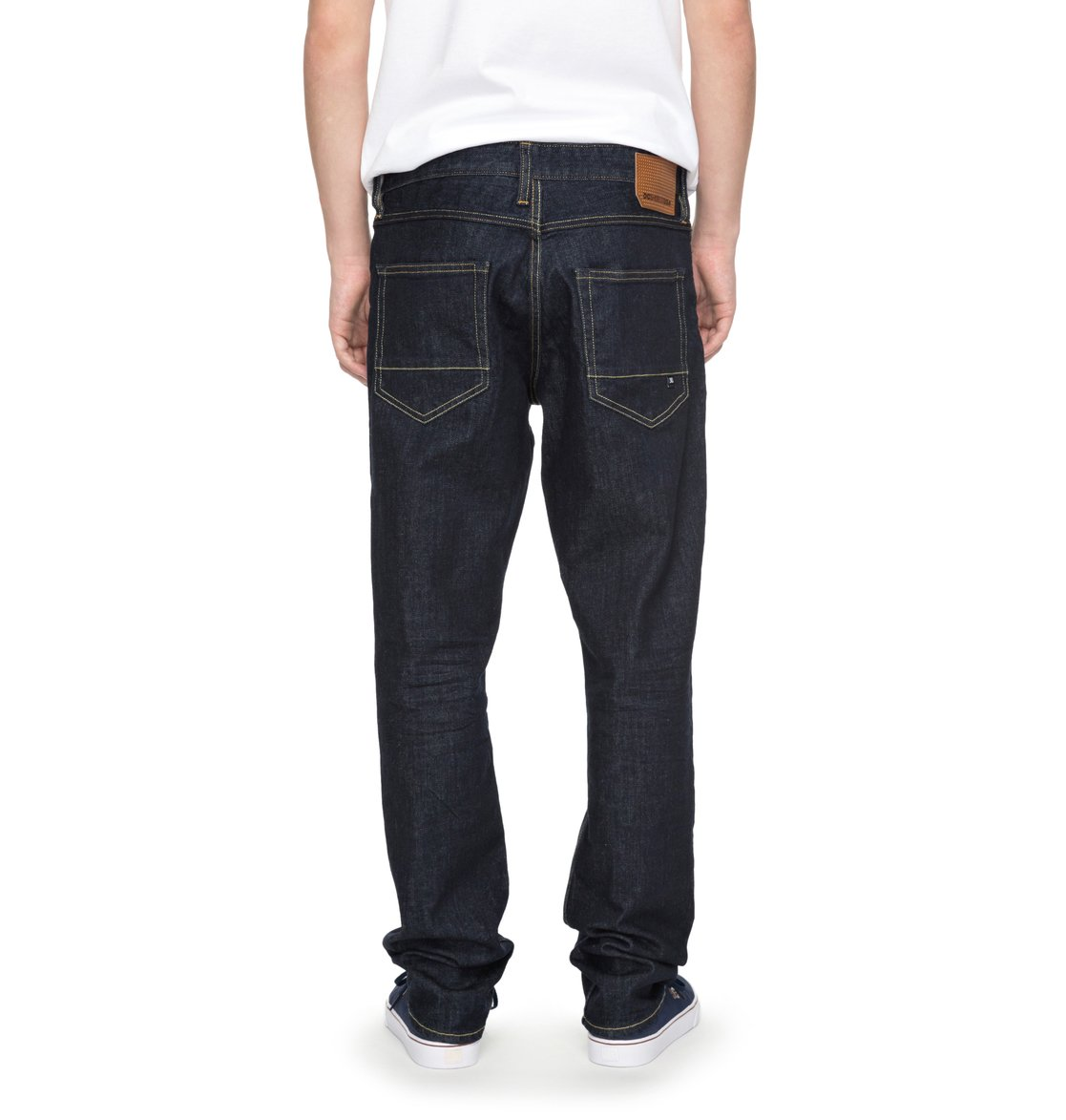 b8f90e3e2fdc9 3 Worker Indigo Rinse Straight Straight Fit Jeans EDYDP03324 DC Shoes