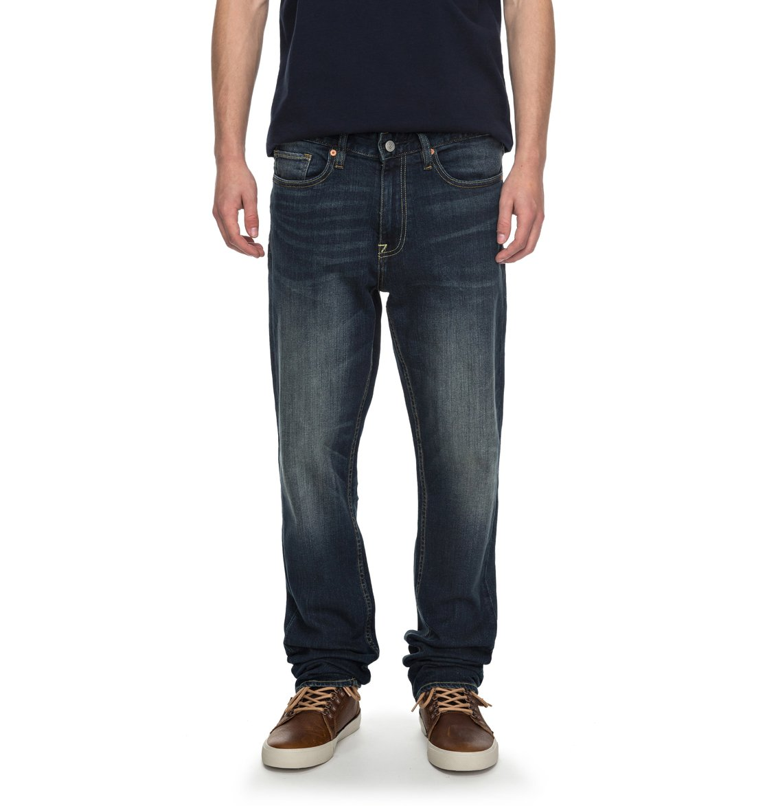 77686d76db 0 Worker Medium Stone Straight Straight Fit Jeans EDYDP03339 DC Shoes