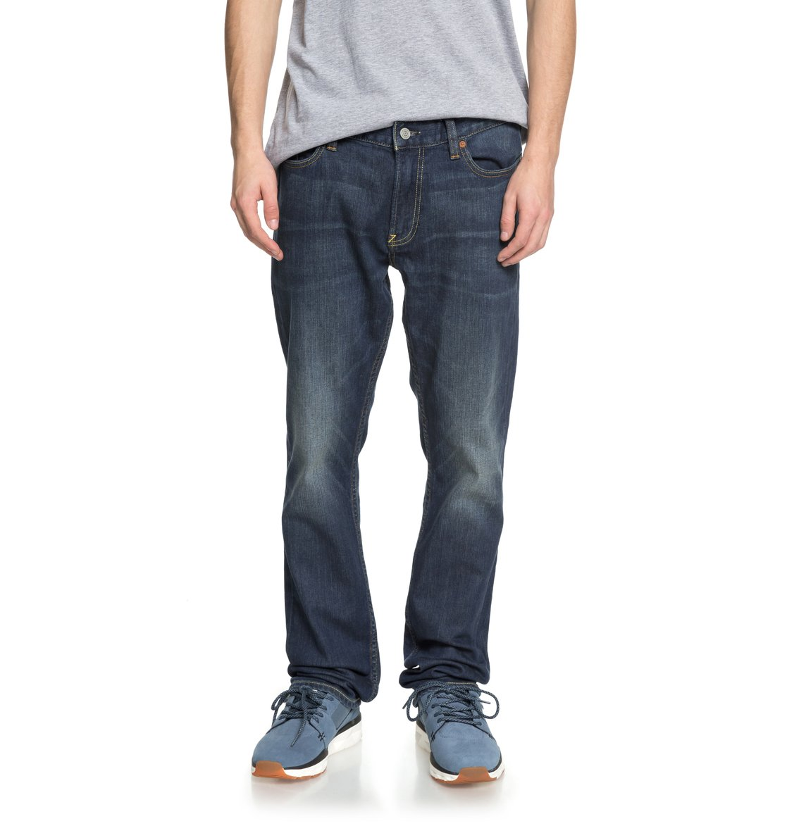 1c54d77d13 0 Worker Medium Stone Straight Fit Jeans EDYDP03365 DC Shoes