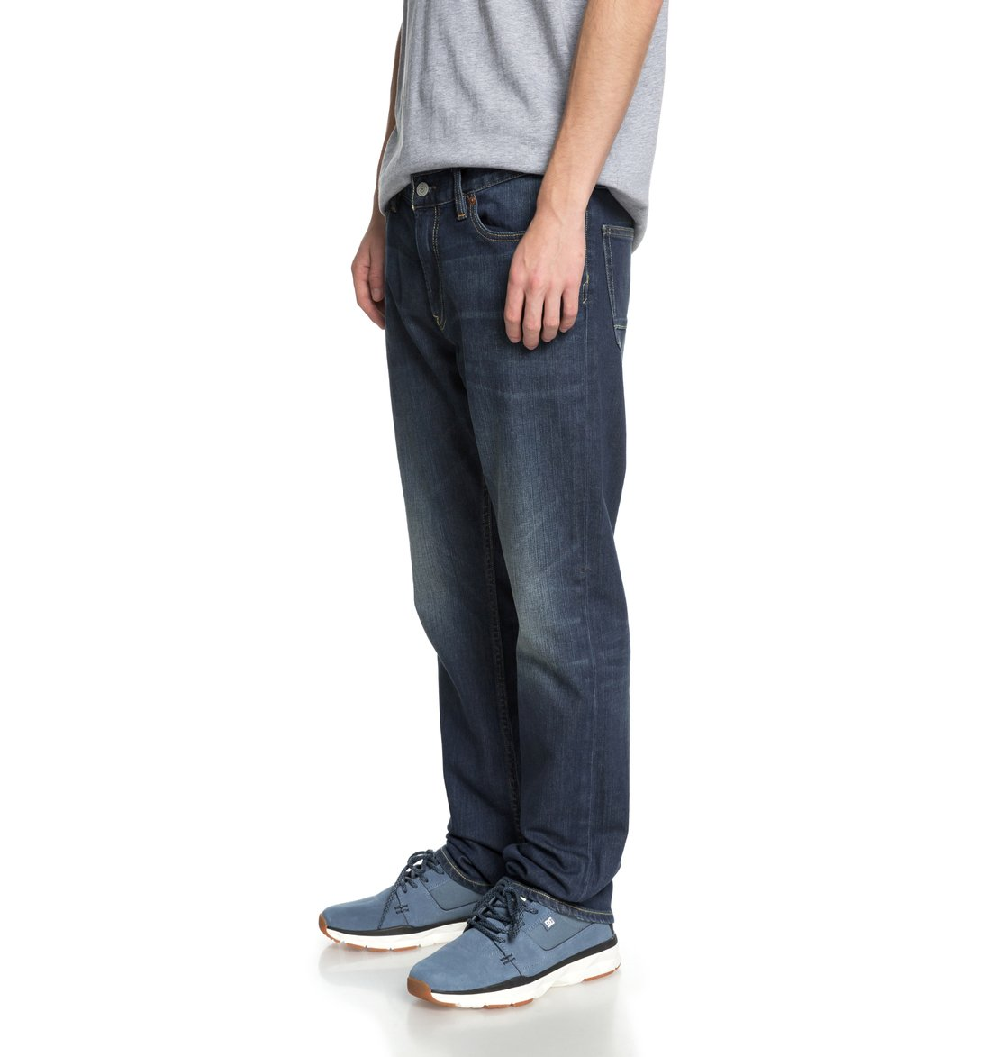 a5b2a537fe 1 Worker Medium Stone Straight Fit Jeans EDYDP03365 DC Shoes