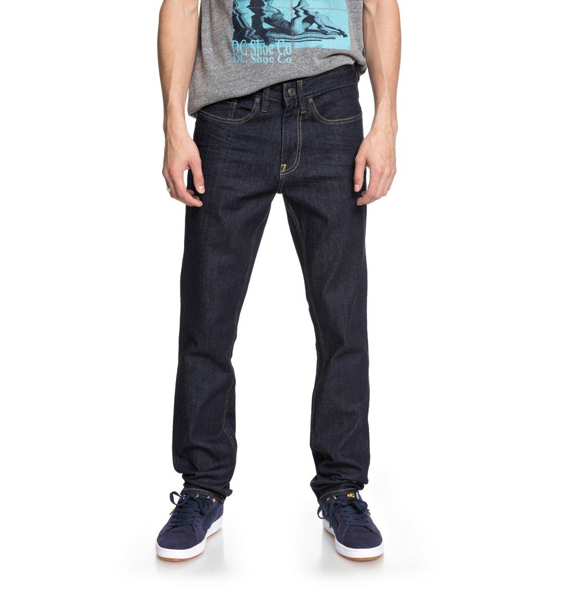 7ac6eb8a81c1f 0 Worker Indigo Rinse - Slim Fit Jeans for Men Blue EDYDP03369 DC Shoes