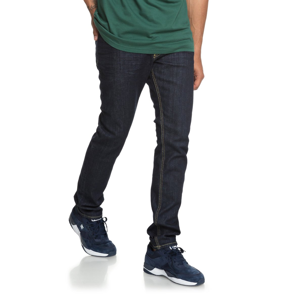 fea17292ded3a 0 Worker Indigo Rinse Slim Fit Jeans EDYDP03384 DC Shoes