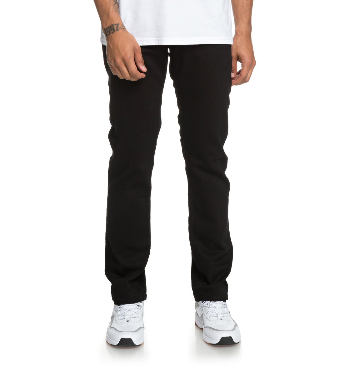 Worker Black Straight Fit Jeans