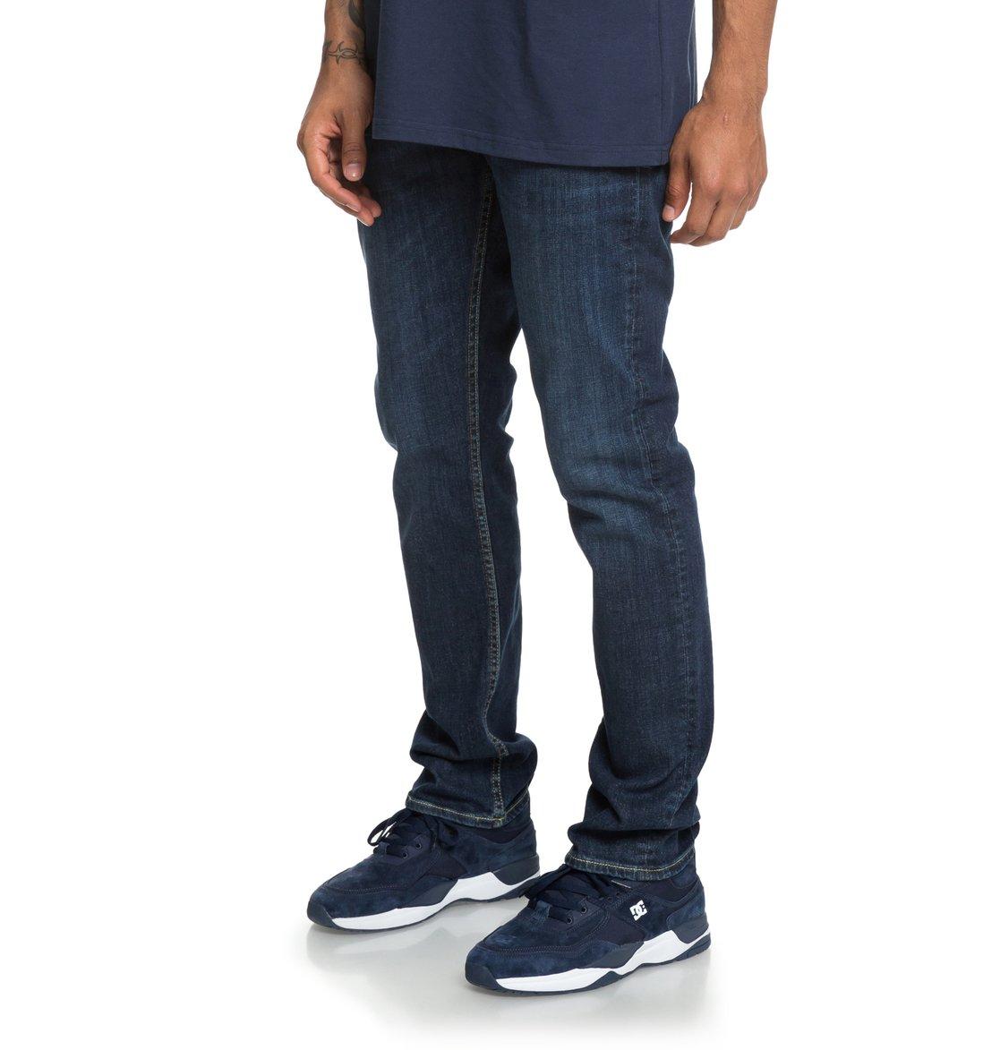 97cebcd914 1 Worker Medium Stone - Straight Fit Jeans for Men Blue EDYDP03388 DC Shoes