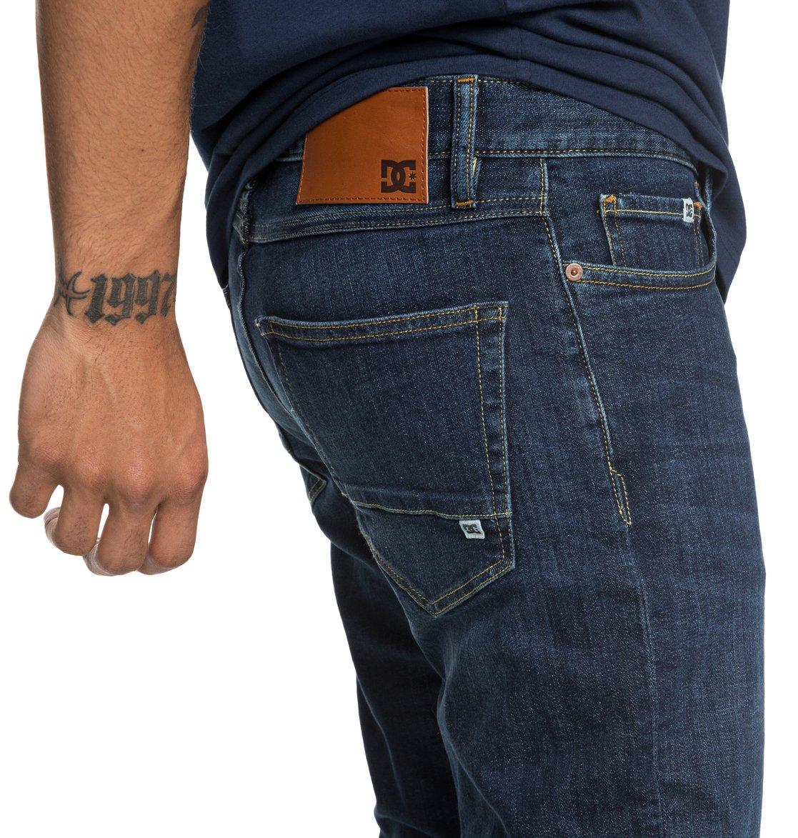 d1428c1bfa 3 Worker Medium Stone - Straight Fit Jeans for Men Blue EDYDP03388 DC Shoes