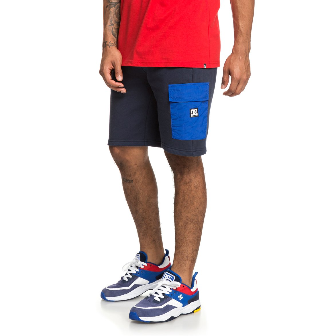 1419237c 1 Simmons - Sweat Shorts for Men Blue EDYFB03057 DC Shoes