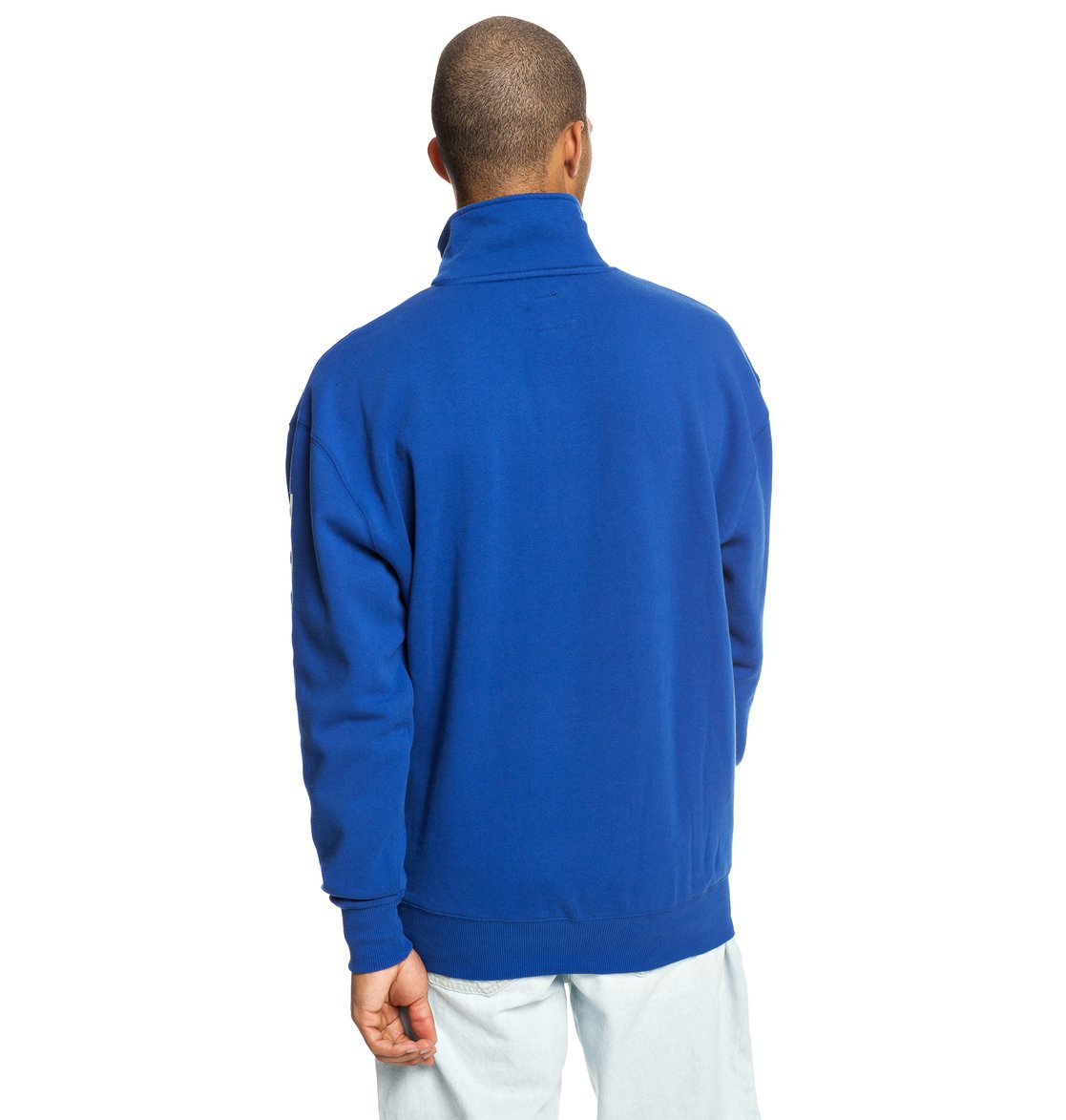 3a456b44 5 Simmons - Half-Zip Mock Neck Sweatshirt for Men Blue EDYFT03421 DC Shoes