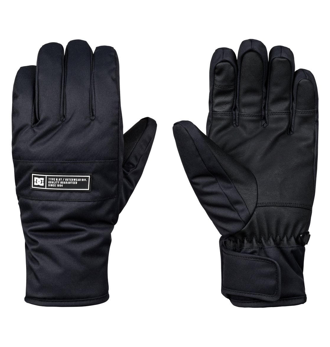 39332db98920 0 Franchise Snowboard Ski Gloves Black EDYHN03036 DC Shoes