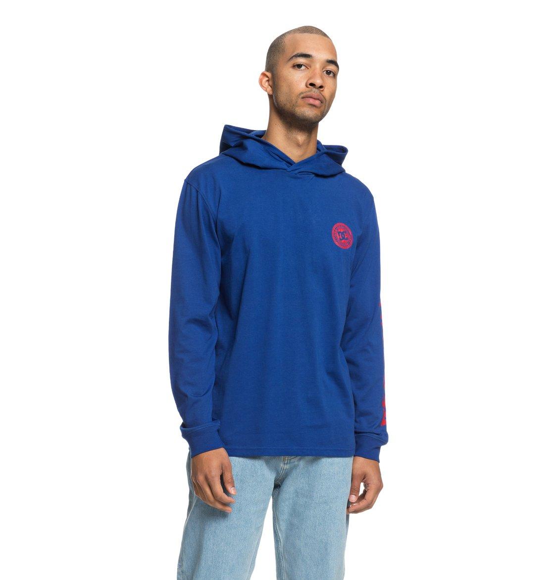 3cc71d122e4ec8 0 Rellin - Langärmeliges Kapuzen-T-Shirt für Männer Blau EDYKT03418 ...