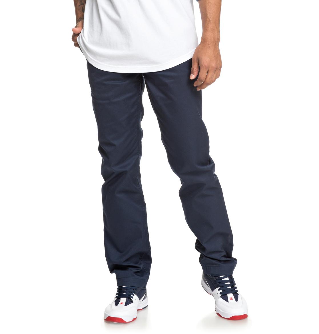 41c0b4df76 0 Worker - Vaqueros de corte recto para Hombre Azul EDYNP03136 DC Shoes