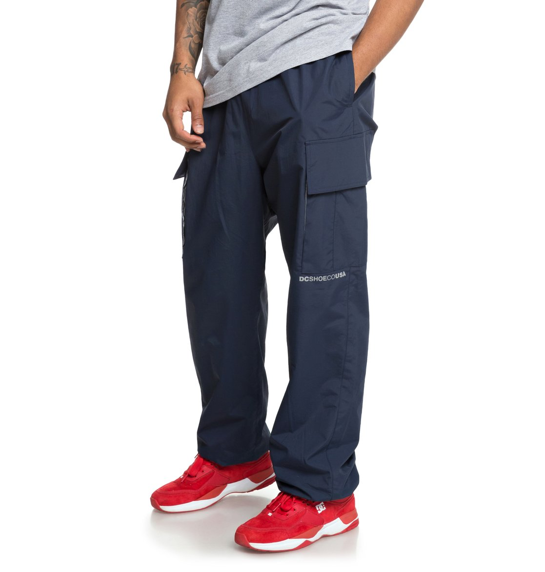 708ddb26540 2 Relevant - Cargo Tracksuit Bottoms for Men Blue EDYNP03138 DC Shoes