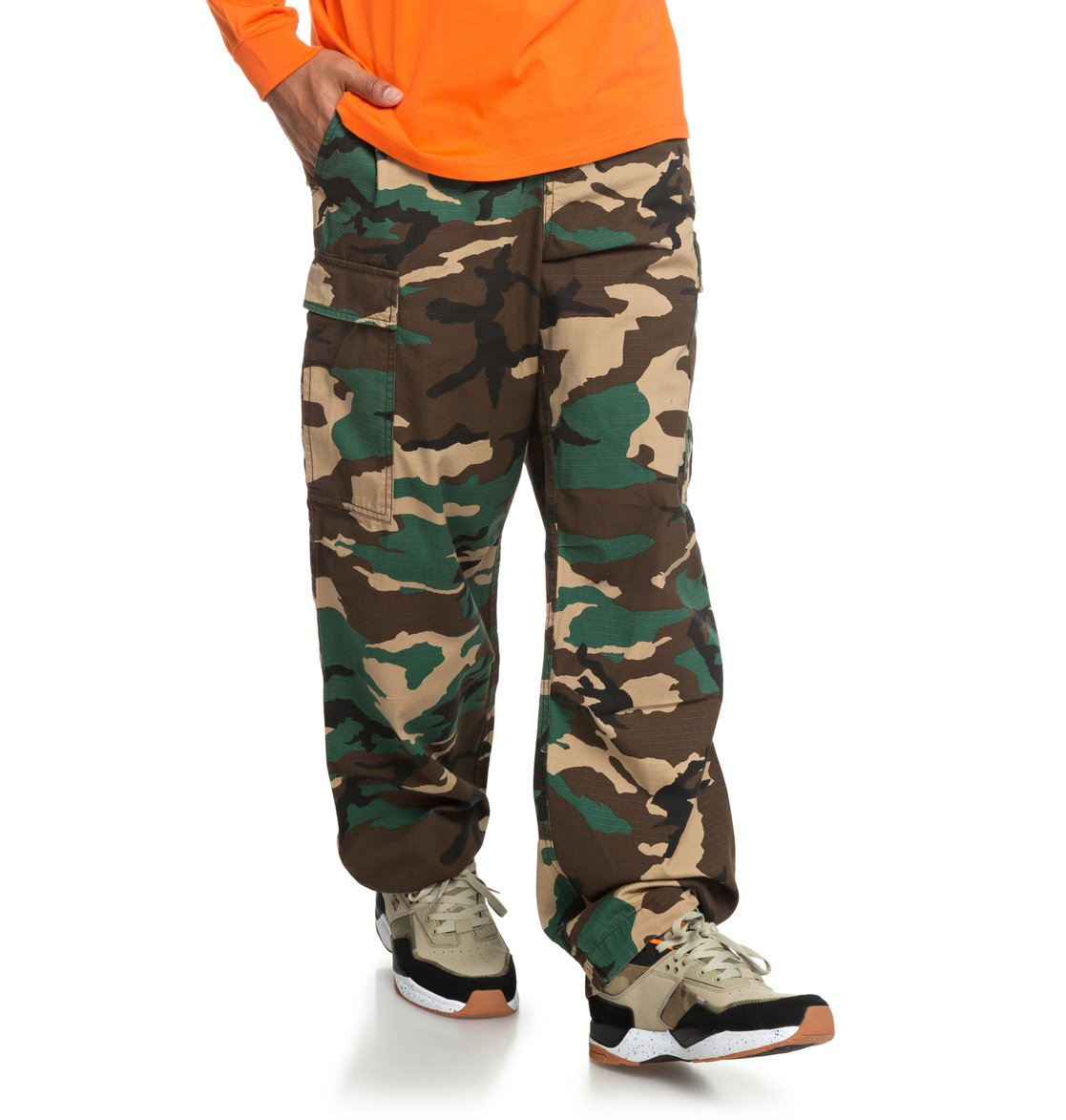 4db6b7e7a139 0 Infield - Military Cargo Trousers for Men Green EDYNP03140 DC Shoes