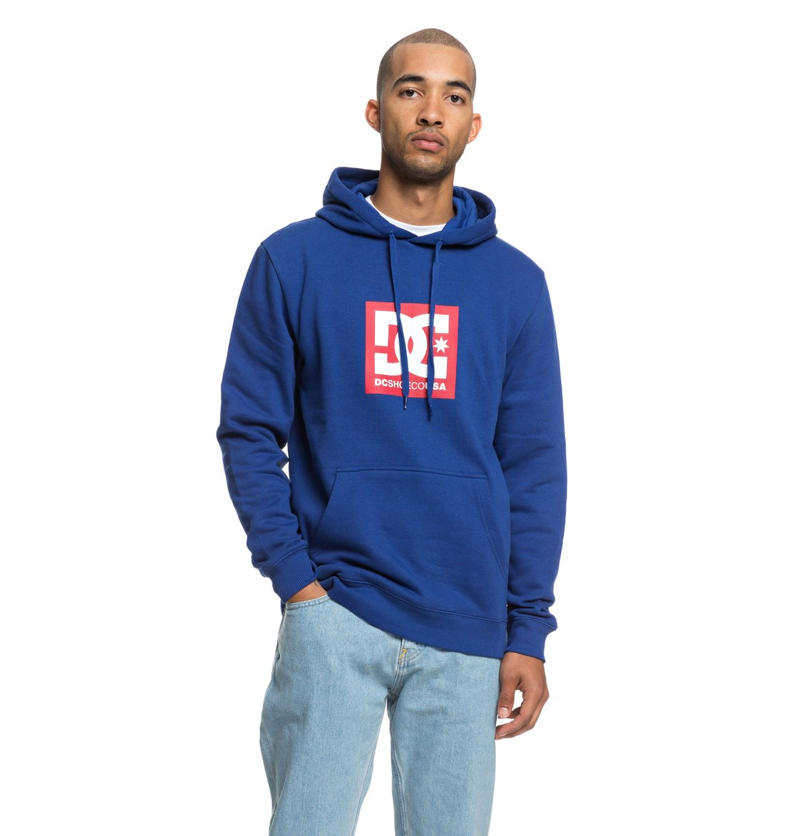 ca2619922376 0 Square Star Hoodie Blue EDYSF03167 DC Shoes